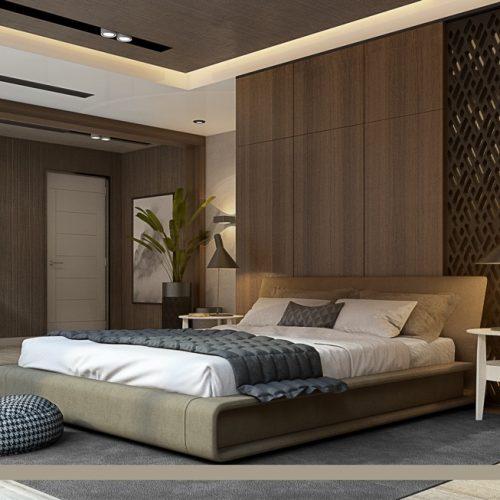 dark-wood-panelled-luxury-bedroom-with-open-concept-walk-in-closet